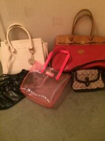 Collection of handbags