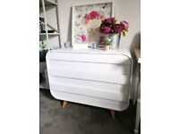 Chest of Drawers - Esme from MADE in White with Oak Legs Bedroom Furniture
