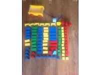 Various toddler toys. Phones, board books, wooden blocks, Disney cars