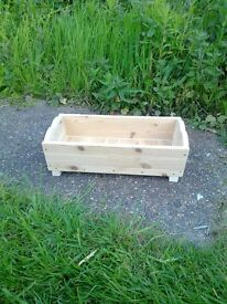 Home made Plain Pine Wood Garden Planter