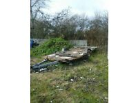x carvan flat bed good shassy 13 ft long