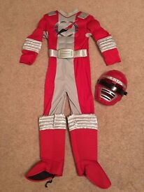 Red Power Rangers dress-up outfit and mask