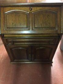 Antique Vintage Oak Office Bureau desk