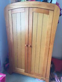 Mamas and papas pine wood wardrobe