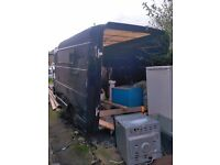£350 - 3 Trailers - Black BT box trailer, small trailer, and trailer frame