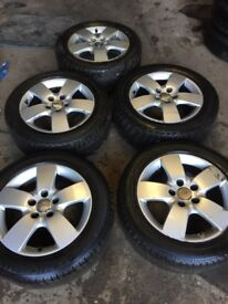 """Audi A6 1998- 2005 set of 5 alloy wheels and tyres 16"""""""