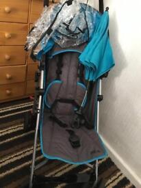Mamas and papas blue stroller