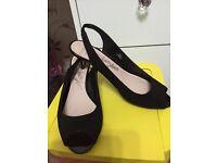 Black sued shoes