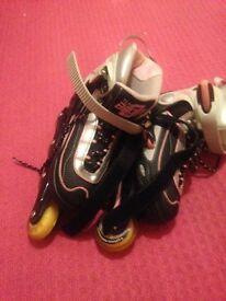 Girls in line skates size 4