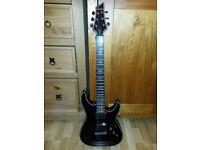 Schecter Hellraiser C-1 Guitar - Diamond Series - Gloss Black + Gigbag + Guitar Strap