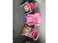 Girls toys VTech and fisher price