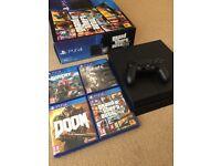 PS4 (PlayStation 4) 500GB - Doom, GTA V, Fallout 4, Far Cry 4 Included