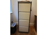 Bisley Economy Filing Cabinet 4 Drawer Coffee Cream