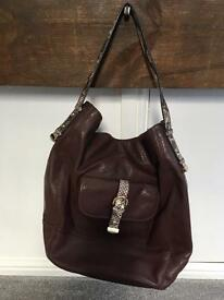 M&S brown leather bag