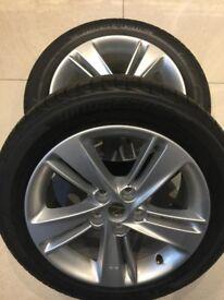 4 New 17 inch alloy wheels with Bridgestone tyres - 5 stud - Vauxhall Insignia