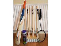 Slazenger Wooden Cricket Set + Tennis Balls etc £35 ONO