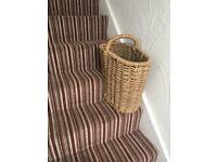 Stairs wicker basket