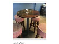 Stools high with table pub man cave