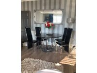 Marble dining table and four chairs