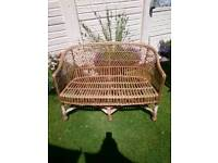 Two seater willow cane chair