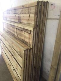 💧Wooden Wayneylap Fence Panels * Tanalised