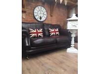 Thomas Lloyd consort leather sofa