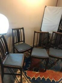 4 Antique Traditional Dining Chair's. Need recovered. £10