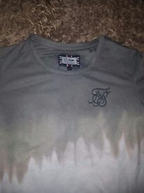 Mens sik silk t shirt