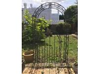 Metal archway and gate