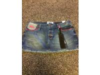 Superdry denim mini skirt w28 BNWT