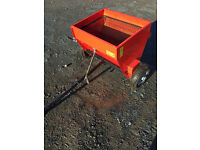 Towed salt spreader gritter for compact tractor, quad or 4x4