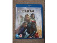 Thor- the dark world blu-ray.