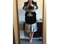 Evening outfit, wedding outfit, formal wear