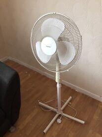 White Stand Fan