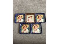 AUTHENTIC COCA COLA COASTERS FROM SPAIN - LOVELY CONDITION