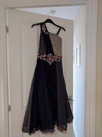Navy Blue Party Girls Party Dress - ages 10/11