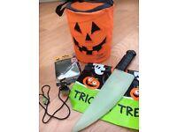 Assortment of halloween items