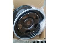Extreme Offset Wheels banded steels 5x112 audi vw mercedes seat wide deep dish