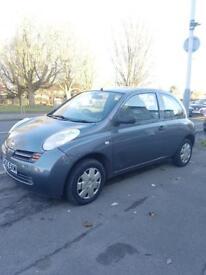 Nissan 1.2 petrol 2005, 1 year MOT, grey color, 3 doors