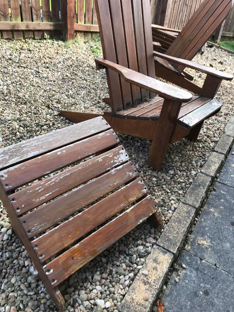 Adirondack garden chairs and stools