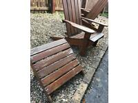 Adirondack garden chairs and stools
