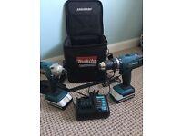 Makita impact driver and hammer drill