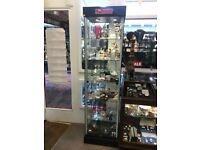 Glass display cabinets with lightbox Various sizes Collection Brighton