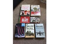Box/selection of military books. Army. RAF. Hardback. 3 new