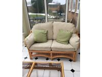 Conservatory Furniture Suite inc 2 cane & glass tables