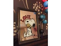 Small vintage Snoopy picture mirror 2