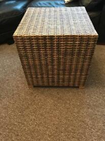 Large rattan side table in good condition £20