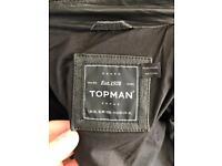 Topman leather jacket