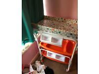 Kiddicare portable changing unit and bath