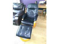 Swivel/recliner chair.
